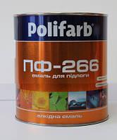 Емаль ПФ-266 2,7кг Червоно-коричнева/ Поліфарб/, фото 1