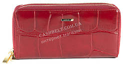 Кожаный красный женский кошелек барсетка на две молнии SALFEITE art.2547T-E97