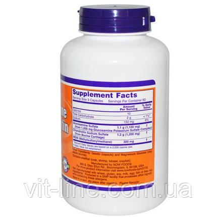 Глюкозамин, хондроитин с МСМ; Now Foods 180 капсул, фото 2