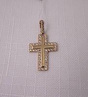 Крестик золотой 585* с цирконами