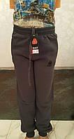 Подростковые спортивные штаны теплые Графит размеры: 128, 140, 152, 164, 170