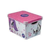 Ящик с крышкой 22л. ( бокс ) для хранения игрушек Littlest Pet Shop 30*40*25