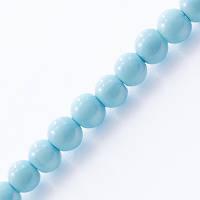 Жемчуг бус стекл, глянц., 4мм, голубой(216 шт) УТ000004871