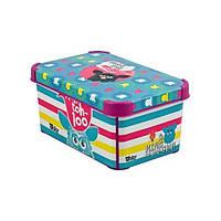 Ящик с крышкой 6 л. ( бокс ) для хранения игрушек Furby 30*20*14
