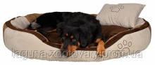 """Мягкое место + подушка """"Бонзо"""" 100х70см для собак, бирюзовый/серый/коричневый, фото 2"""