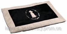 Лежанка Королевская для собак, 100х70см, чёрный/бежевый