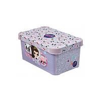 Ящик с крышкой 6 л. ( бокс ) для хранения игрушек Littlest Pet Shop 30*20*14
