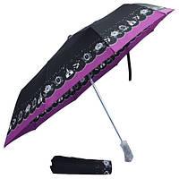 Зонт черный с рисунками 304-12
