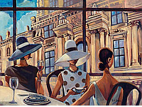 "Картина по номерам ""Перерыв на кофе"" 40х50 см. Идейка. КНО2122 (без коробки)"