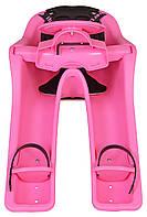 Детское переднее велокресло Ibert safe-T-seat, розовое (IS)