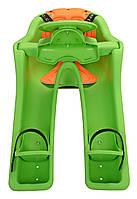 Детское переднее велокресло Ibert safe-T-seat, зелёное (IS)