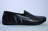 Туфли подростковые чёрные