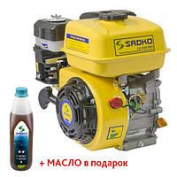 Двигатель бензиновый Sadko GE-200 Pro (шлицевой вал, с воздушным фильтром в маслянной ванне), фото 1