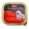 Консервы (влажный корм) для щенков Вом Фенштейн (Vom Feinsten) Говядина Птица 150гр