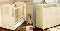 Детская кроватка Prestige 6 с пеленальным комодом мишкой