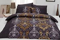 Двуспальное евро постельное белье из ранфорса Majoli Bahar teksil Julie v3 Fume