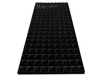 Акустический поролон «Пирамида» 30 мм, 100*45 cм. Черный.