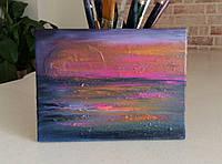 «Яркие краски заката» картина маслом
