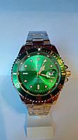 Мужские часы Rolex Submariner Date (зол/зел)