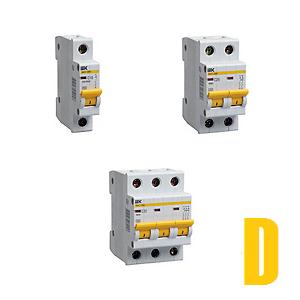 Автоматические выключатели ВА47-29М (характеристика D)