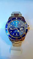 Мужские часы Rolex Submariner Date (зол/син)