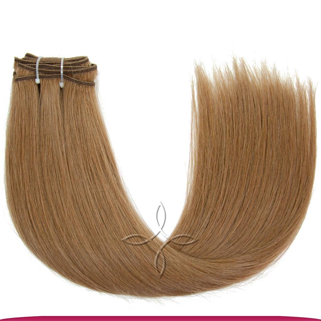 Натуральные Славянские Волосы на Трессе 45-50 см 100 грамм, Русый №08