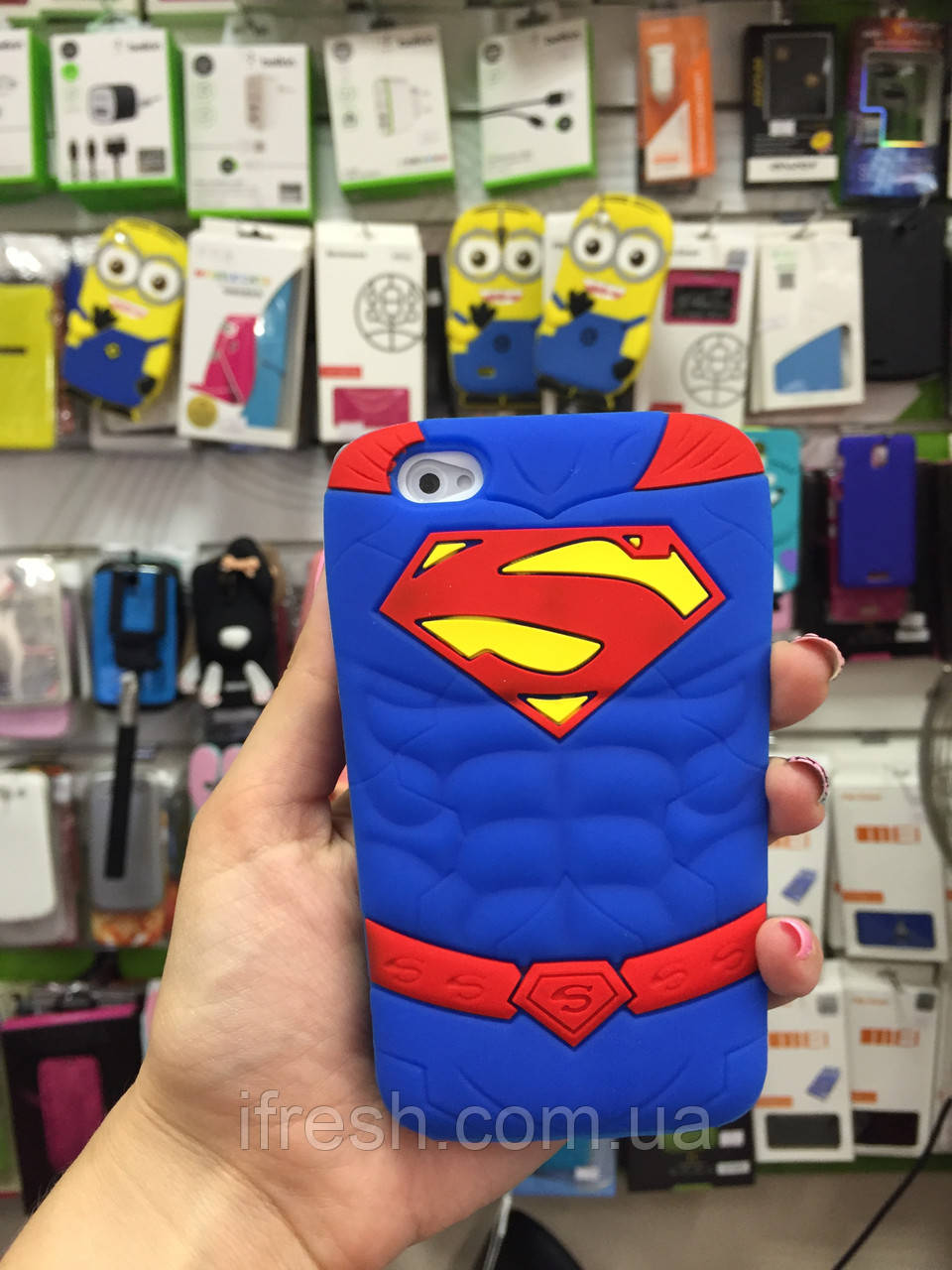 Чехол SUPERMAN для iPhone 4/4s, Супермэн