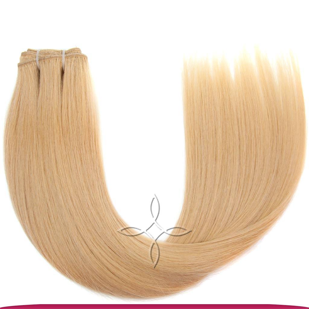 Натуральные Славянские Волосы на Трессе 45-50 см 100 грамм, Блонд №101