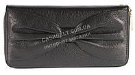 Кожаный черный женский кошелек барсетка с бантом SALFEITE art. 12199, фото 1