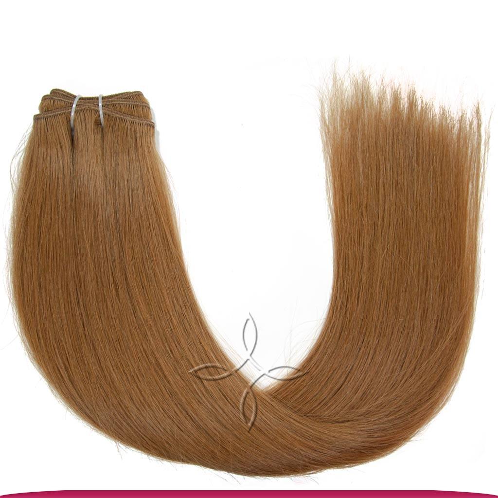 Натуральные Славянские Волосы на Трессе 55-60 см 100 грамм, Русый №7A