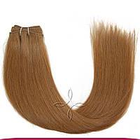 Натуральные славянские волосы на трессе 55-60 см 100 грамм, Русый №108