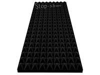 Акустический поролон «Пирамида» 50 мм, 100*50 cм. Черный.