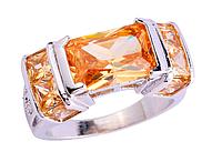 Элегантное кольцо в серебре,морганит 17р 18р 19р