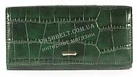 Классический женский кошелек зеленого цвета под кожу рептилии COSSROLL art.E30-5242-10