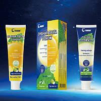 Зубная паста утро-вечер отбеливает зубы и устраняет воспалительные процессы и боли в зубах