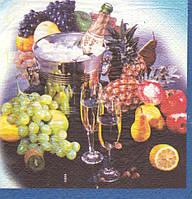 Салфетка для декупажа Шампанское 5992