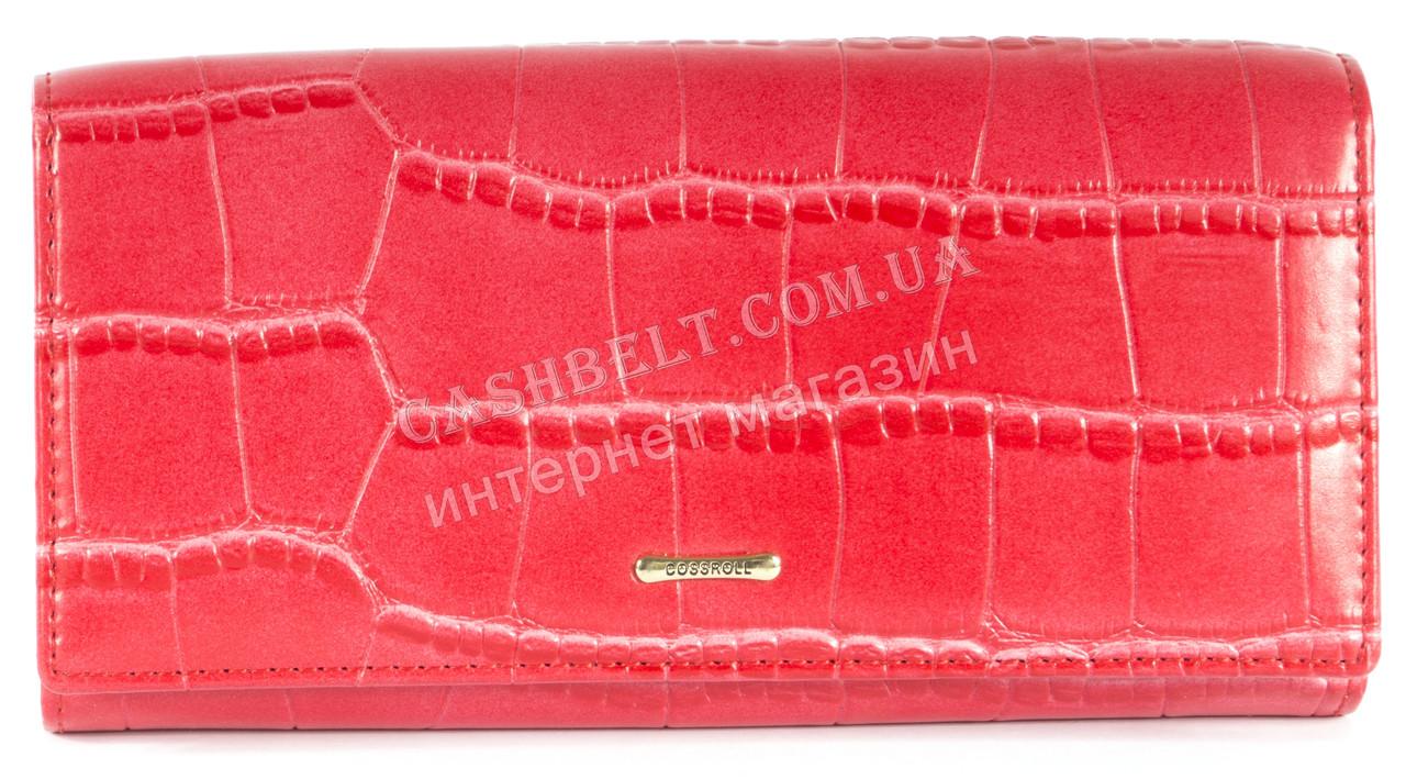 Классический женский кошелек красного цвета под кожу рептилии COSSROLL art.E30-5242-1