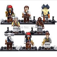 Фигурки-конструктор Пираты Карибского моря набор 8 шт