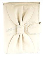 Cтильная прочная кожаная женская документница с кард холдером SALFEITE art. 12198 белого цвета