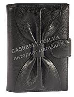 Cтильная прочная кожаная женская документница с кард холдером SALFEITE art. 12198 черного цвета