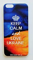 Чехол на Айфон 6/6s Пластик Love Ukraine Флаг Украины, фото 1