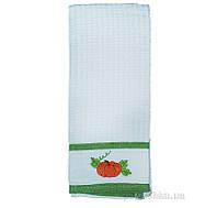 Полотенце вафельное Zastelli 1108 с вышивкой 40х66 см Морковь