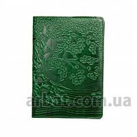 Turtle Обложка кожа для паспорта Tree зеленый
