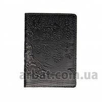 Turtle Обложка кожа для паспорта Tree темно-серый