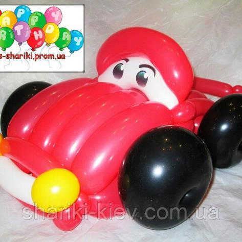 Машина Тачка Маквин из шариков на День рождения, фото 2