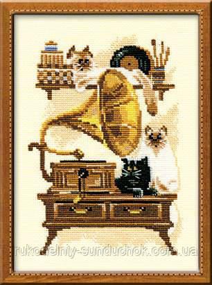 Набор для вышивания крестом «Патефон» (859), Риолис