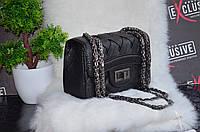 "Мини-сумка ""Шанель"" черная плетенная., фото 1"