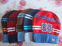 """Детская шапка """"89"""" на мальчика. Разные цвета. Оптом., фото 1"""