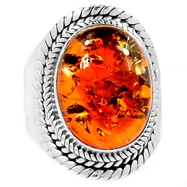 Янтарь, серебро 925, 083КЯ  кольцо