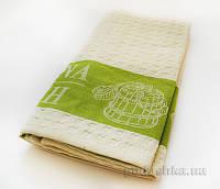 Вафельное полотенце для сауны Zastelli кремовое 100х160 см